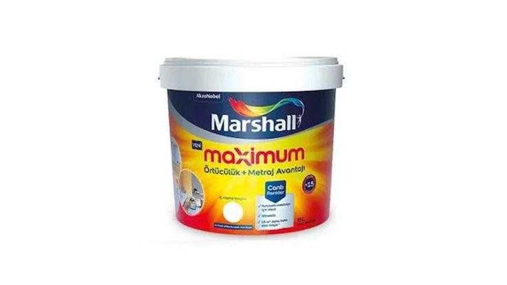 Marshall Maximum Silikonlu İpek Mat İç Cephe Boyası